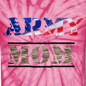 army mom usa camouflage color T-Shirts - Unisex Tie Dye T-Shirt