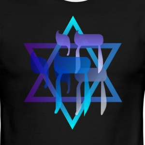 Chai and Star Of David - Men's Ringer T-Shirt