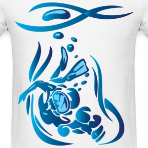 Scuba Diver 4 Blue T-Shirts - Men's T-Shirt