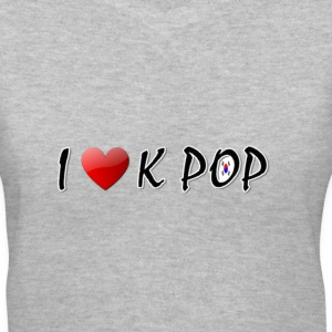 I LOVE K POP - Women's V-Neck T-Shirt