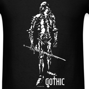 Gothic Knight Men's Standard Black T-shirt - Men's T-Shirt