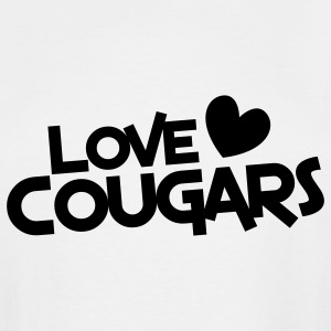 love cougars with heart T-Shirts - Men's Tall T-Shirt