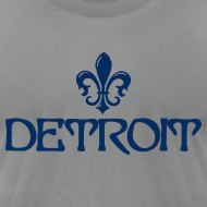 Design ~ Fleur De Lis Detroit Men's American Apparel T-Shirt