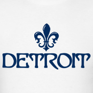 Design ~ Fleur De Lis Detroit Men's Standard Weight T-Shirt