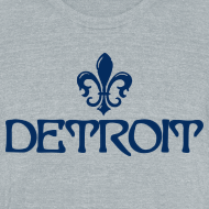 Design ~ Fleur De Lis Detroit Men's Tri-Blend Vintage T-Shirt