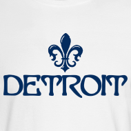 Design ~ Fleur De Lis Detroit Men's Long Sleeve T-Shirt
