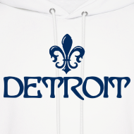 Design ~ Fleur De Lis Detroit Men's Hooded Sweatshirt