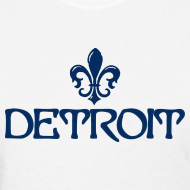 Design ~ Fleur De Lis Detroit Women's Standard Weight T-Shirt