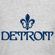 Design ~ Fleur De Lis Detroit Women's Long Sleeve Jersey T-Shirt