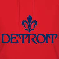 Design ~ Fleur De Lis Detroit Women's Hooded Sweatshirt