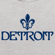 Design ~ Fleur De Lis Detroit Kid's Hooded Sweatshirt