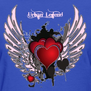 Urban Legend Red Heart with Pink Wings and Pink Text   Women's T-Shirts - Women's T-Shirt