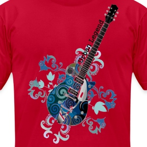 Urban legend Grunge Guitar Large Gif Transparent B T-Shirts - Men's T-Shirt by American Apparel