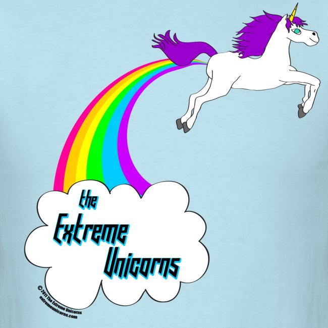 Men's rainbow farting unicorn tee