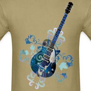 Urban Legend Grunge Guitar with Logo on Neck of Guitar,Transparent Gif T-Shirts - Men's T-Shirt