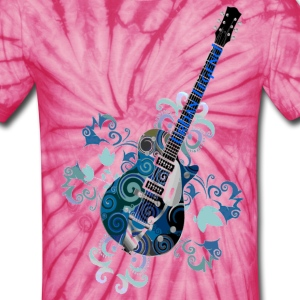 Urban Legend Grunge Guitar with Logo on Neck of Guitar,Transparent Gif T-Shirts - Unisex Tie Dye T-Shirt