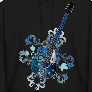 Urban Legend Grunge Guitar with Logo on Neck of Guitar,Transparent Gif Hoodies - Men's Hoodie
