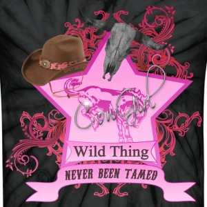 CowGirl Wild Thing never been tamed Pink T-Shirts - Unisex Tie Dye T-Shirt