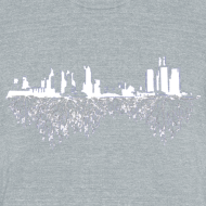 Design ~ Detroit Skyline With Roots Men's Tri-Blend Vintage T-Shirt by American Apparel