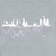 Design ~ Detroit Skyline With Roots Men's Tri-Blend Vintage T-Shirt by American Apparel