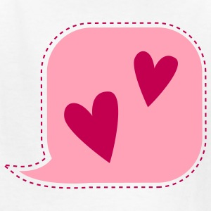 i talk love hearts speak Kids' Shirts - Kids' T-Shirt