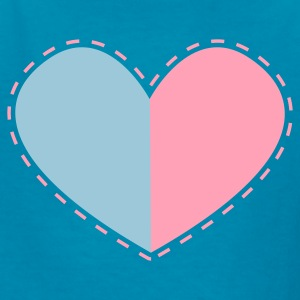 a heart divided with stitches Kids' Shirts - Kids' T-Shirt