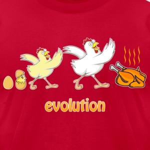 Chicken evolution - Men's T-Shirt by American Apparel