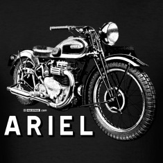 Classic ARIEL motorcycle script and illustration