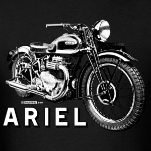 Classic ARIEL motorcycle script and illustration - Men's T-Shirt