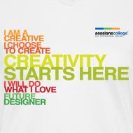 Design ~ Sessions College - Creativity Starts Here, Women's v-neck White
