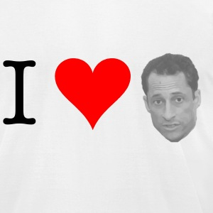 I Heart Weiner - Men's T-Shirt by American Apparel