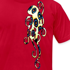 blue ring octopus T-Shirts - Men's T-Shirt by American Apparel