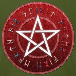 White WICCAN PENTAGRAM | Men's shirt by american apparel - Men's T-Shirt by American Apparel