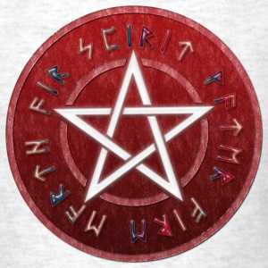 White WICCAN PENTAGRAM | Men's shirt standrad weight - Men's T-Shirt