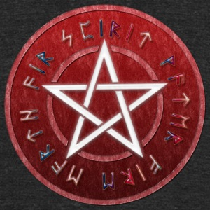 White WICCAN PENTAGRAM | Men's shirt tri-blend - Unisex Tri-Blend T-Shirt by American Apparel