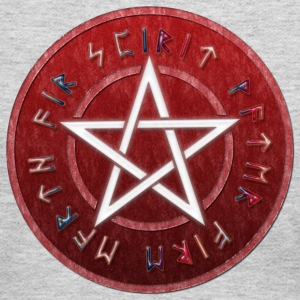 White WICCAN PENTAGRAM | Women's long sleeve jersy shirt - Women's Long Sleeve Jersey T-Shirt