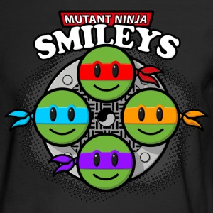 Mutant Ninja Smileys V2 (dd print) Long Sleeve Shirts - Men's Long Sleeve T-Shirt