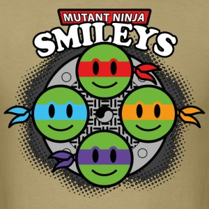 Mutant Ninja Smileys V1 (dd print) T-Shirts - Men's T-Shirt