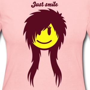 Smiley Emo (Girl) Icon 2c Long Sleeve Shirts - Women's Long Sleeve Jersey T-Shirt