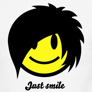 Smiley Emo (Boy) Icon 2c T-Shirts - Men's Ringer T-Shirt