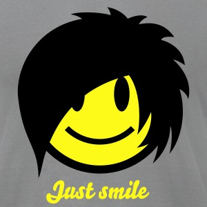 Smiley Emo (Boy) Icon 2c T-Shirts - Men's T-Shirt by American Apparel