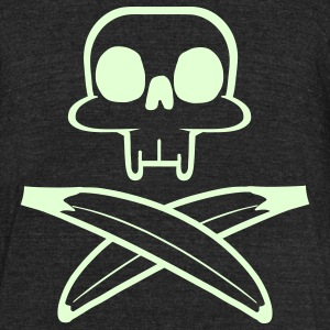 Skull and bananas T-Shirts - Unisex Tri-Blend T-Shirt by American Apparel
