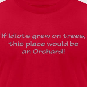 Idiot Orchards T-Shirts - Men's T-Shirt by American Apparel