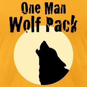 Yellow Lone Wolf - Men's T-Shirt by American Apparel