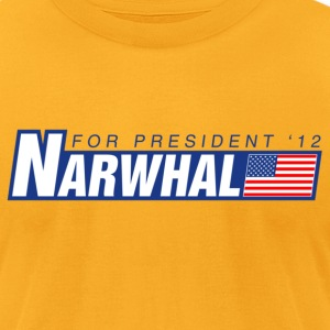 Narwhal 4 Prez T-Shirts - Men's T-Shirt by American Apparel