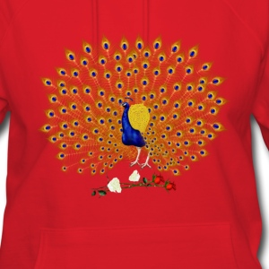 Peacock and Roses - Women's Hoodie