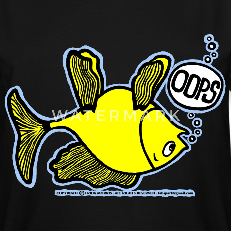 OOPS Upside Down Fish, Sparky the Fish T-Shirts - Men's Tall T-Shirt