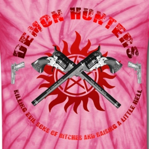 Demon Hunters killing evil sons of bitches and raising a little Hell Red T-Shirts - Unisex Tie Dye T-Shirt