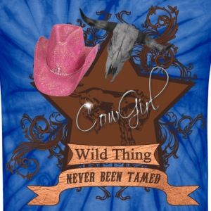 CowGirl Wild Thing never been tamed Pink Hat 4 T-Shirts - Unisex Tie Dye T-Shirt