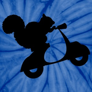 Squirrel on Scooter T-Shirts - Unisex Tie Dye T-Shirt